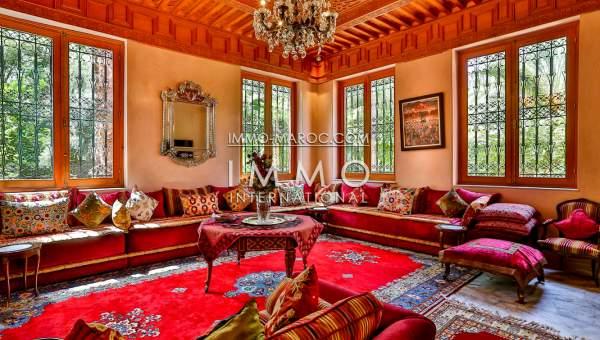 Vente villa Marocain luxe Marrakech Palmeraie