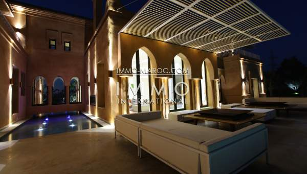 Vente villa Marocain épuré luxe Marrakech