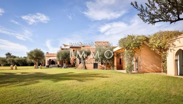 Maison à vendre Marocain épuré Prestige Marrakech Palmeraie