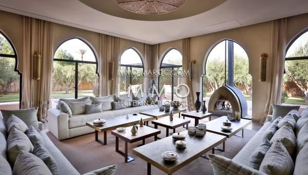 Vente villa Marocain épuré de prestige Marrakech Palmeraie