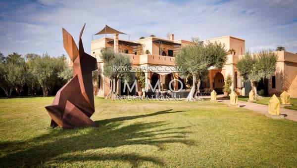 Achat villa Marocain épuré immobilier de luxe marrakech Marrakech Palmeraie