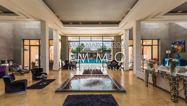 Achat villa Marocain épuré haut de gamme Marrakech Extérieur Route Fes