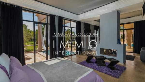 Achat villa Marocain épuré immobilier de luxe marrakech Marrakech Extérieur Route Fes