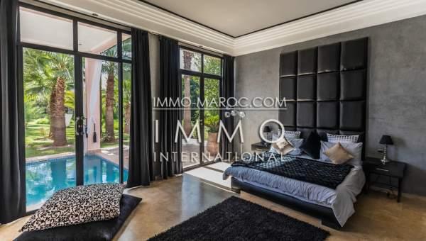 Maison à vendre Marocain épuré luxe Marrakech Extérieur Route Fes