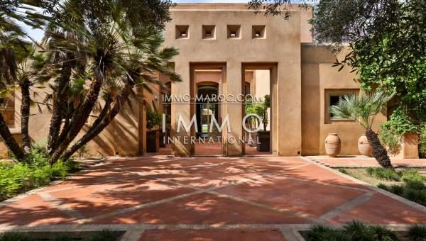 Achat villa Marocain épuré biens de prestige Marrakech Palmeraie Circuit Palmeraie