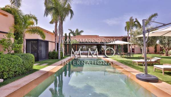 vente villa contemporain sur le golf al madden marrakech | ImmoMaroc