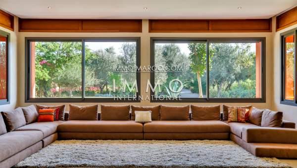 Vente villa Contemporain haut de gamme Marrakech Extérieur Route Barrage