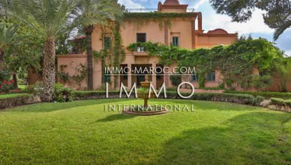 villa achat Marocain épuré immobilier luxe à vendre marrakech Marrakech Palmeraie Palmariva – Dar tounsi