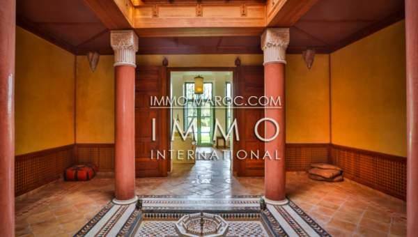 Achat villa Marocain épuré luxe Marrakech Palmeraie Palmariva – Dar tounsi