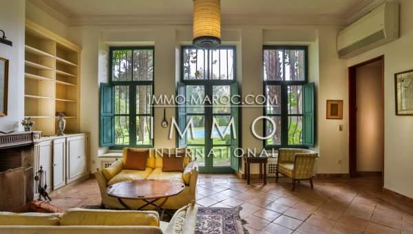 Vente villa Marocain épuré haut de gamme Marrakech Palmeraie Palmariva – Dar tounsi