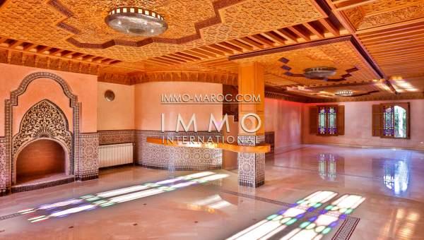 Achat villa Marocain immobilier de luxe marrakech Marrakech Golfs Amelkis