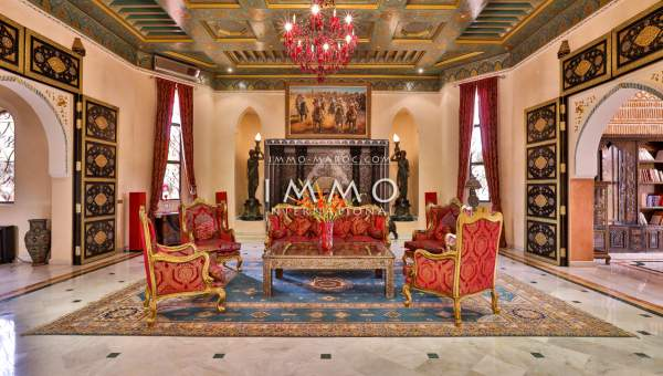 villa vente Marocain haut de gamme Marrakech Palmeraie Circuit Palmeraie