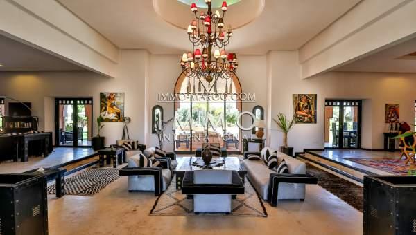 Achat villa luxe Maison d'hôtes Marrakech Extérieur Route Ourika