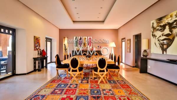 Achat villa haut de gamme Maison d'hôtes Marrakech Extérieur Route Ourika