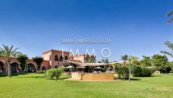 Vente villa Prestige Maison d'hôtes Marrakech Extérieur Route Ourika