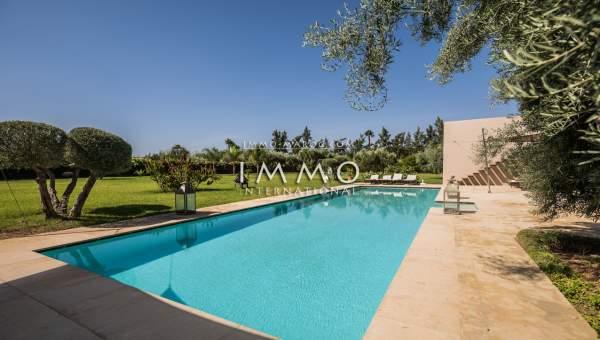 villa vente Moderne Prestige Marrakech Extérieur Route Ourika