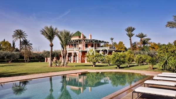 Vente villa Marocain de prestige Marrakech Palmeraie