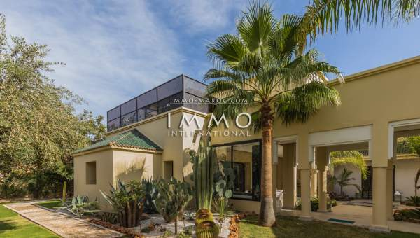 villa achat Moderne luxe Marrakech Golfs Amelkis