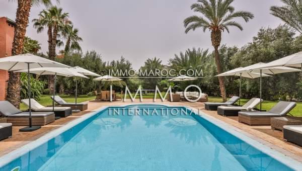 villa vente Marocain épuré Marrakech Palmeraie Circuit Palmeraie