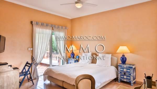 Villa à vendre Marocain épuré Marrakech Palmeraie Circuit Palmeraie