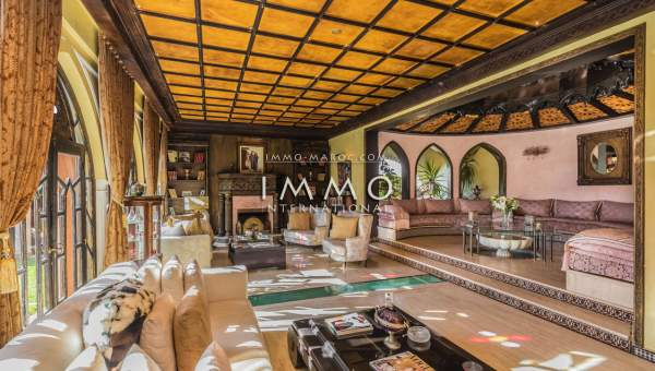Vente villa Marocain haut de gamme Marrakech Golfs Amelkis