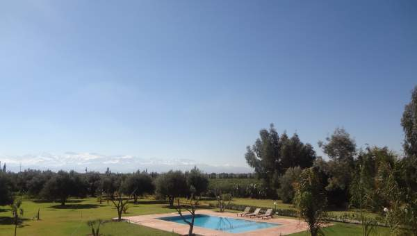 Vente villa Marocain épuré Marrakech Extérieur Route Sidi Abdellah Ghiat