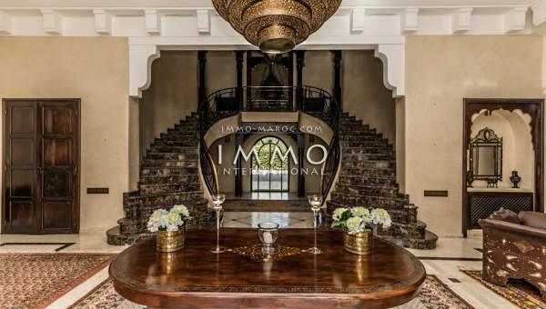Achat villa Marocain épuré immobilier luxe à vendre marrakech Marrakech Golfs Amelkis
