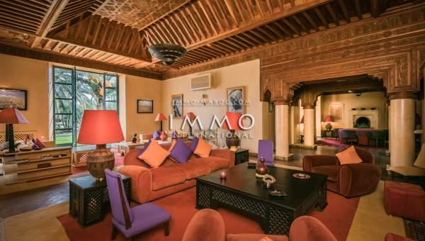 Achat villa Marocain Prestige Marrakech Palmeraie Bab Atlas