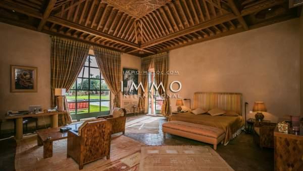 Achat villa Marocain luxe Marrakech Palmeraie Bab Atlas