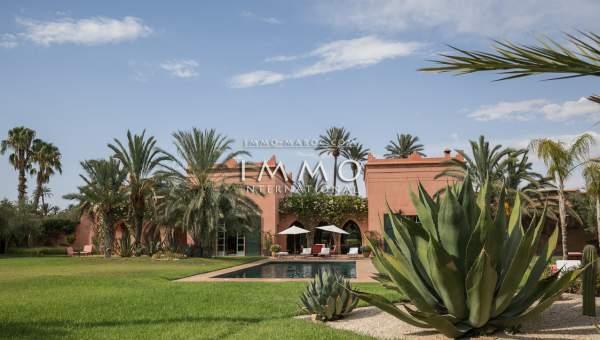 acheter maison Marocain prestige a vendre Marrakech Palmeraie Bab Atlas