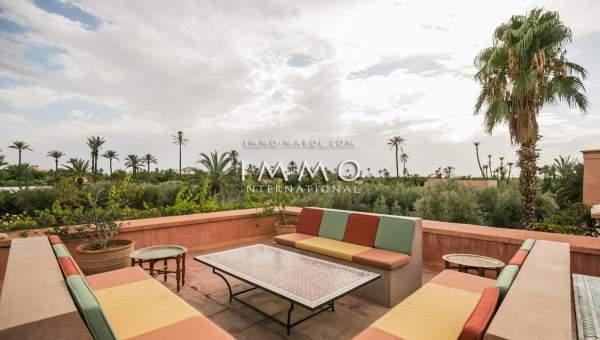 Villa à vendre Marocain prestige a vendre Marrakech Palmeraie Bab Atlas