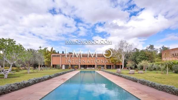 Achat villa Contemporain Marocain luxe Marrakech Palmeraie Circuit Palmeraie