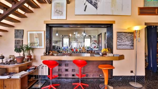 Vente villa Contemporain Marocain haut de gamme Marrakech Palmeraie Circuit Palmeraie