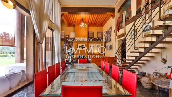 Achat villa Contemporain Marocain prestige a vendre Marrakech Palmeraie Circuit Palmeraie