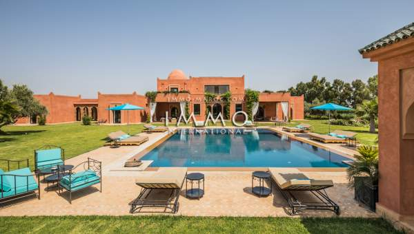 Vente villa Marocain prestige Marrakech Extérieur Route Ourika
