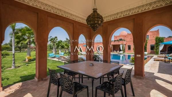 villa vente Marocain luxe Marrakech Extérieur Route Ourika