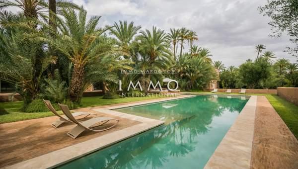 Vente villa Contemporain haut de gamme Marrakech Palmeraie