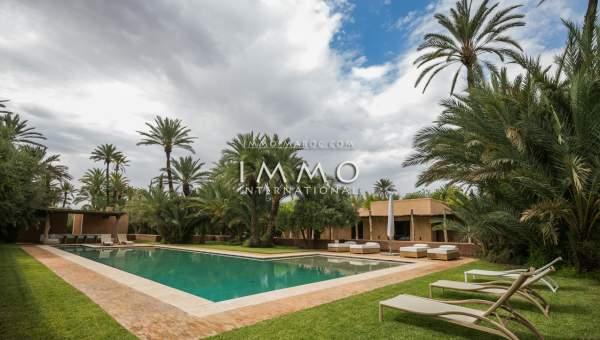 acheter maison Contemporain luxe Marrakech Palmeraie