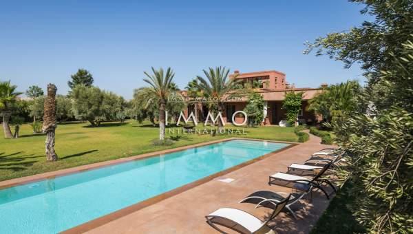 villa achat Marocain épuré immobilier de luxe marrakech Marrakech Extérieur Route Ourika