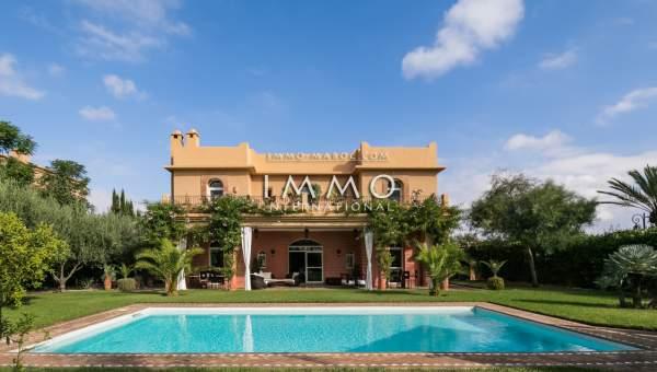 Villa à vendre Marocain agence immobiliere de luxe marrakech Marrakech Golfs Amelkis