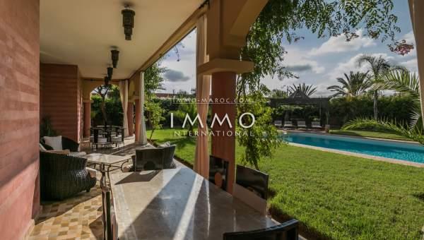 villa achat Marocain propriete luxe marrakech à vendre Marrakech Golfs Amelkis
