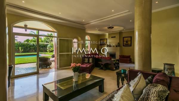 villa vente Marocain luxe Marrakech Golfs Amelkis