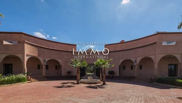 Vente maison Marocain luxe Marrakech Extérieur Ecole américaine