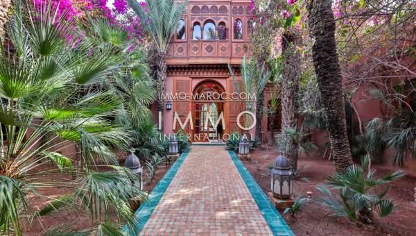villa de luxe marrakech a vendre palmeraie