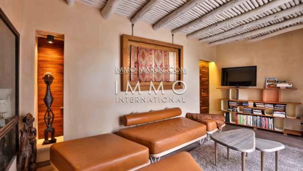 Vente villa Marocain épuré Marrakech Extérieur Route Amizmiz