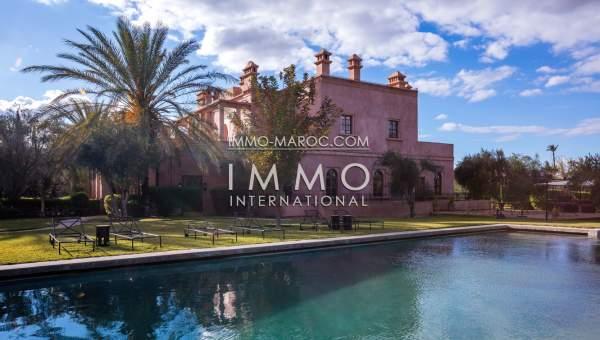 Achat villa Marocain Prestige Maison d'hôtes Marrakech Palmeraie