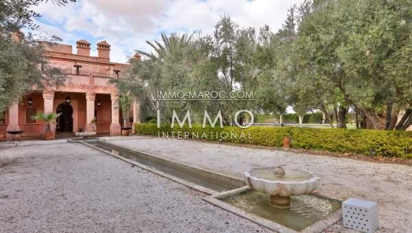 Villa à vendre Marocain Maison d'hôtes Marrakech Palmeraie