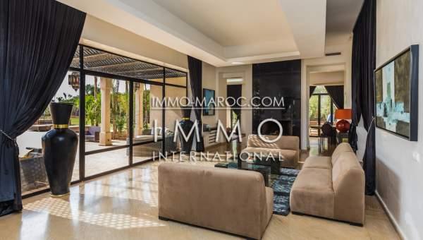 Achat villa Marocain épuré luxe Marrakech Palmeraie Bab Atlas