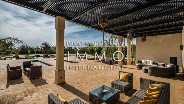 Maison à vendre Marocain épuré prestige a vendre Marrakech Palmeraie Bab Atlas