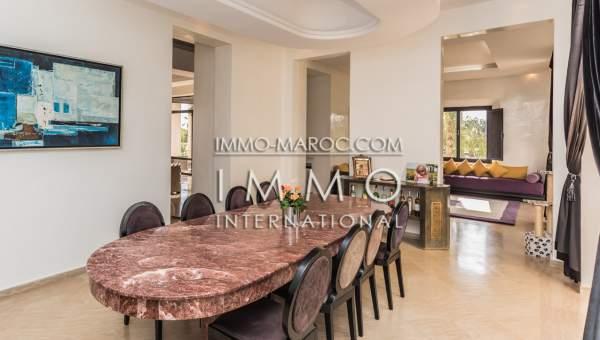 Vente villa Marocain épuré luxe Marrakech Palmeraie Bab Atlas